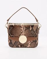 Le Château Snake Print Faux Leather Crossbody Bag