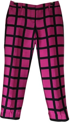 J.Crew Pink Silk Trousers for Women