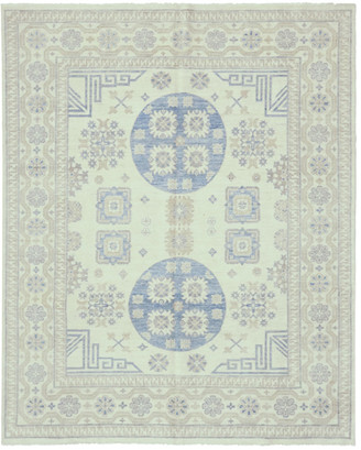 Solo Rugs Contemporary Patterned & Floral Hand-Knotted Wool Rug