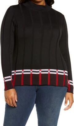 Marina Rinaldi Ardesia Rib Wool Blend Sweater