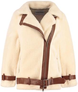 Stand Studio Colleen Faux Fur Biker Jacket
