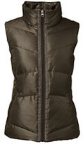 Lands' End Women's Tall Shimmer Down Vest-Muted Graphite