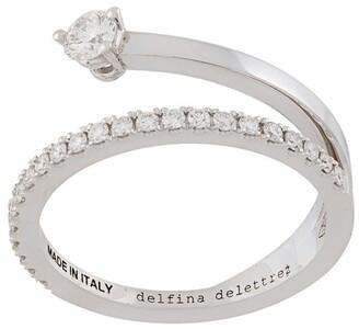 Delfina Delettrez 18kt white gold Marry Me diamond ring