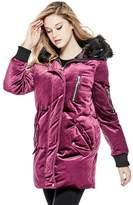 GUESS Women's Velvet Puffer Coat