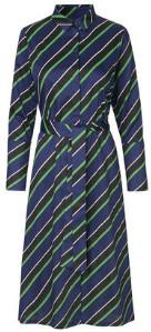 Mads Norgaard Soft Satina Stripe Distrella Dress - cotton | small | 36