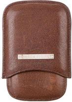Brunello Cucinelli Leather Logo Phone Sleeve