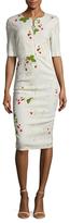 Max Mara Clelia Floral Print Sheath Dress