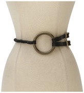 Rachel Zoe Equestrian Ring Belt (Black) - Apparel