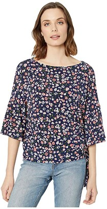 MICHAEL Michael Kors Garden Flounce Sleeve Top (Coral Peach) Women's T Shirt