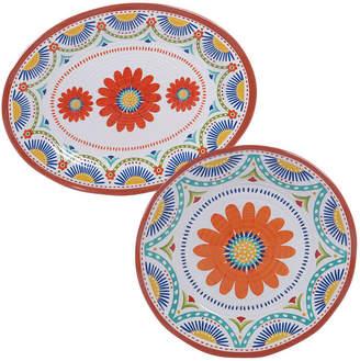 Certified International Vera Cruz Melamine 2 Piece Platter Set