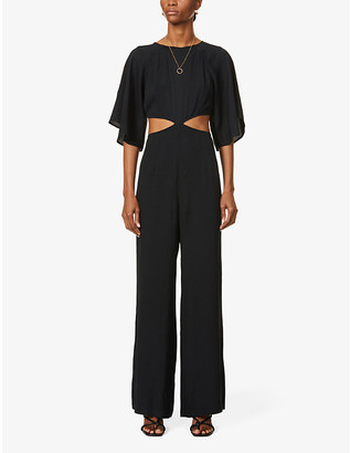 Reformation Cornelia cut-out woven jumpsuit
