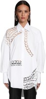 Ermanno Scervino Cotton Poplin & Lace Shirt