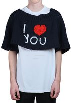 Raf Simons I Love You Oversized Wool Knit Sweater