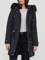 Thumbnail for your product : Very Ultimate Parka With Faux Fur Trim - Black