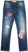 Simonetta Flowers Printed Stretch Denim Jeans