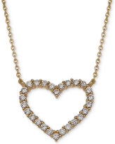 Giani Bernini Cubic Zirconia Heart Pendant Necklace in 18k Gold-Plated and 18k Rose Gold-Plated Sterling Silver, Only at Macy's