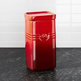 Crate & Barrel Le Creuset ® Cerise Red Coffee Storage Jar