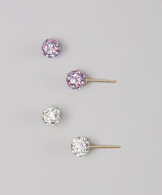 Swarovski Relex ReLex Girls' Earrings MULTI - Purple Stud Earrings Set With Crystal
