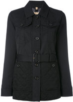 Burberry quilted detail fitted jacket
