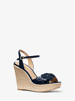 Michael Kors Flora Applique Leather Wedge
