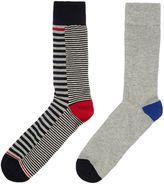 Linea 2 Pack Contrast Stripe Socks