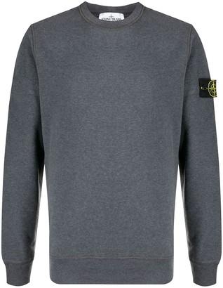 Stone Island Logo Patch Cotton Sweatshirt