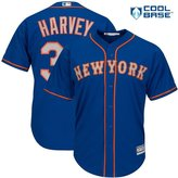 Majestic Matt Harvey New York Mets MLB Men's Cool Base Alternate Jersey