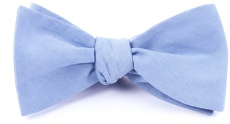 Tie Bar Classic Chambray Sky Blue Bow Tie