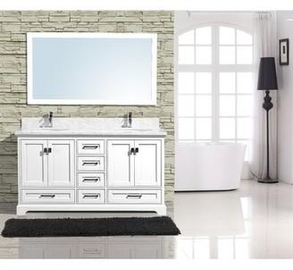 "Gracie Oaks Frieda 60"" Double Bathroom Vanity with Mirror Gracie Oaks"