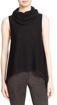 Alice + Olivia Women's 'Sharry' Cowl Neck Sleeveless Wool & Cashmere Pullover