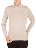 Allison Daley Petite Turtleneck Long Sleeve Pullover Sweater