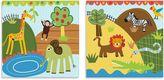 Oopsy Daisy Fine Art For Kids Too Jungle Friends 2-Piece Canvas Wall Art