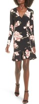 Soprano Women's Ruched Surplice Dress