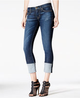Hudson Muse Dark Mosaic Wash Cuffed Skinny Jeans