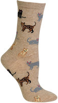 Hot Sox Women's Cats Trouser Socks