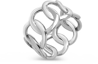 Sterling Forever Open Chain Link Ring