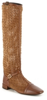 Roger Vivier Final Sale Woven Suede Riding Boot