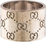 Gucci Wide Icon Band Ring