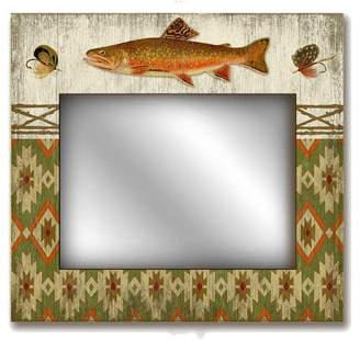 Adirondack Red Horse Suzanne Nicoll Lodge Mirror Sign