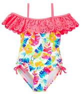 Flapdoodles Tropical One-Piece Swimsuit (Toddler Girls)
