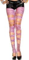 Music Legs Cut out zebra print leggings