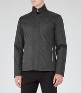 Reiss Reiss Coltman - Concealed Zip Jacket In Grey
