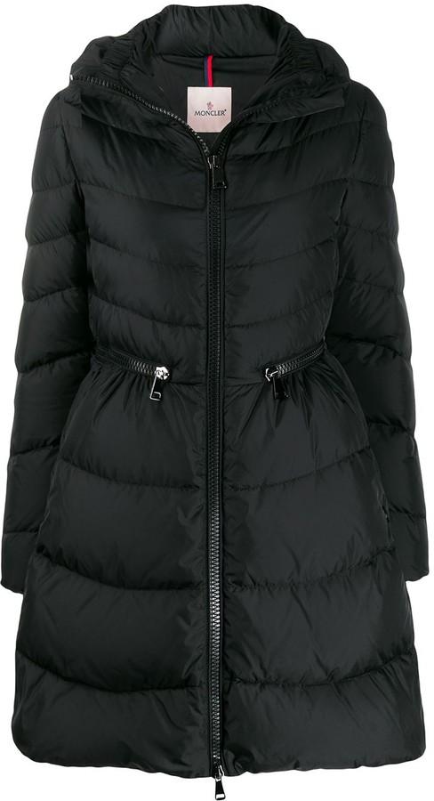 b0f2463b4 zipped waisted puffer jacket