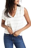 Madewell Women's Whisper Cotton Stripe V-Neck Tee