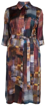 Marina Rinaldi Watercolour Shirt Dress