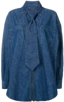 Diesel Red Tag tie detail denim shirt