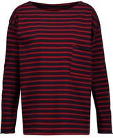 MiH Jeans Striped Cotton-Ponte Top