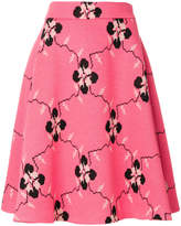 Miu Miu printed A-line skirt