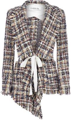 Lanvin Tweed Asymmetric Blazer