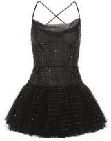 Valentino Embellished tulle mini dress